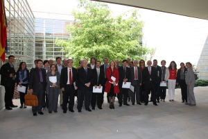 Asistentes a la Jornada de Trabajo entre la Audit Commission y la Cámara de Comptos de Navarra (Pamplona, 2 de mayo de 2011)