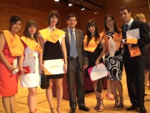 Acto de graduación de los alumnos de la Facultad de Ciencias Económicas y Empresariales. Promoción 2009